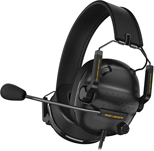 SENZER SG500 Surround Sound Pro Gaming Headset with Noise Cancelling Microphone - Detachable Memory Foam Ear Pads - P...