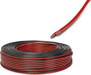 CBCBBING【100m】(2×0.5mm²) Speaker Wire Cable Car Home Stereo HiFi/Car Audio System 17 AWG Gauge Copper Wire