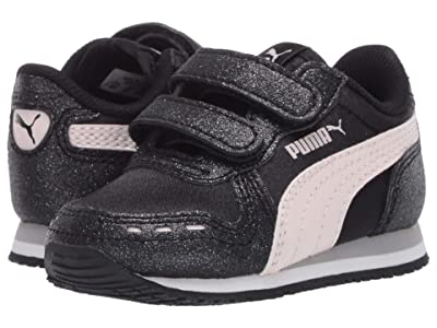 Puma Kids Cabana Racer Glitz V (Toddler) (Black/Rosewater/White) Girls Shoes