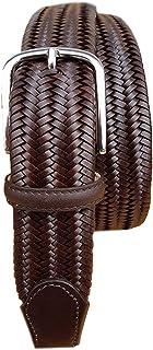 ESPERANTO Cintura in treccia elastica di pelle 35 mm taglie da 135 a 170 cm (taglia da 58 a 72)