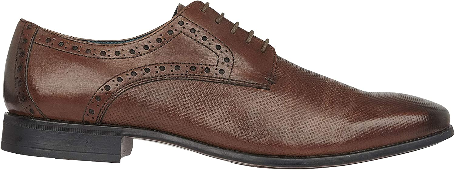Silver Street Orwell Mens Formal and Smart Casual Leather Brown bluee Lace up Brogue Derby Gibson Office shoes in Sizes 7-12