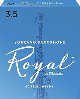 Cañas para saxo soprano Rico Royal, resistencia de 3.5, paquete de 10