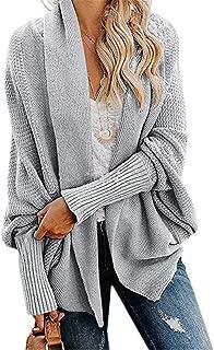 Women Batwing Sleeves Knitting Cardigan Front Open Sweaters Outwear