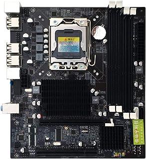 73JohnPol Placa Base Gigabyte para Socket B LGA 1366 Placas Computadora de Escritorio Placa Base Intel Placa Base con Interfaz de E/S y (Color: Negro)