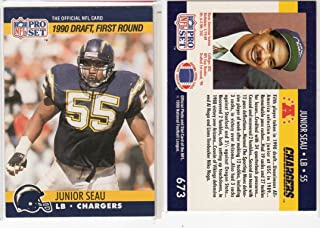 Junior Seau 1990 PROSET Rookie Football Card San Diego Chargers HOF