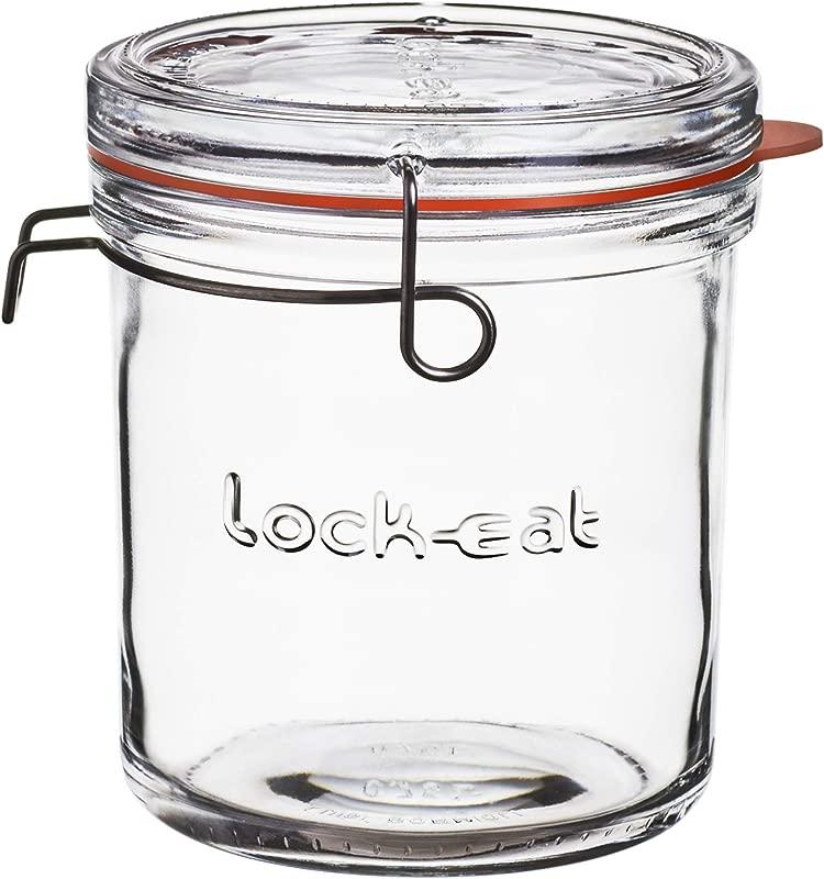 Luigi Bormioli 12160 01 Lock Eat 25 25 Oz XL Food Jar 1 Piece Clear