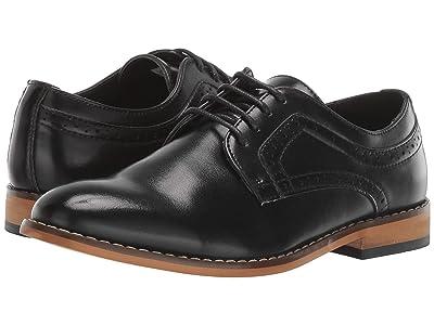 Stacy Adams Kids Dickens Plain Toe Oxford (Little Kid/Big Kid) (Black) Boys Shoes