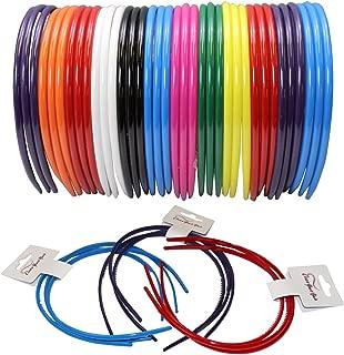CoverYourHair Headbands - Hairbands - Hard Headbands - Hair Accessories - Bulk Headbands (36 Pack Thin Headbands)