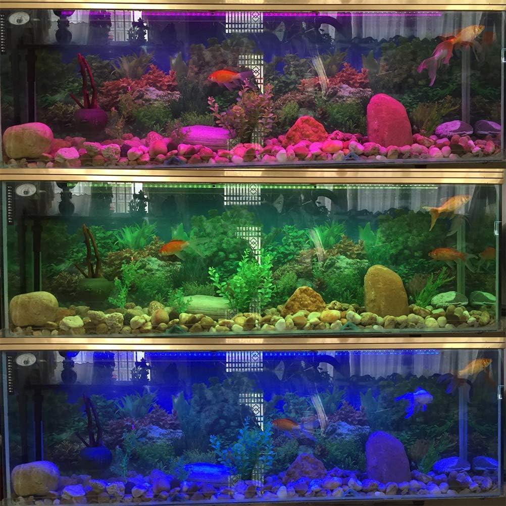 Cambio di Colore Luce per Acquario sommergibile Telecomando Sfondo a Strisce di luci a LED Decorare lilluminazione Hoonee Luce per Acquario Impermeabile