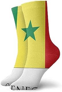 Abfind El equipo colorido divertido de la bandera de Senegal pega calcetines al aire libre para unisex