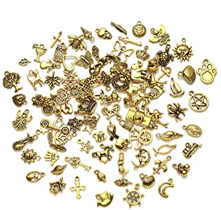 40 Pieces AssortedAssorted Charm Pendants Pendant Necklace Bracelet Charms for DIY Jewelry Crafting Making Fresh Style