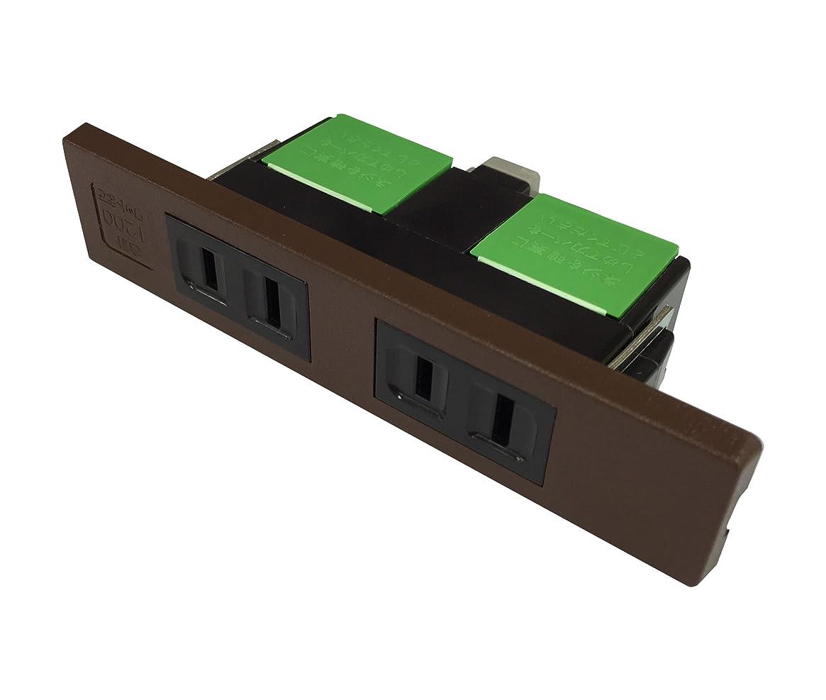 汚染された米国中庭Panasonic 家具用ミニダブルコンセント(チョコ) WF2039AK