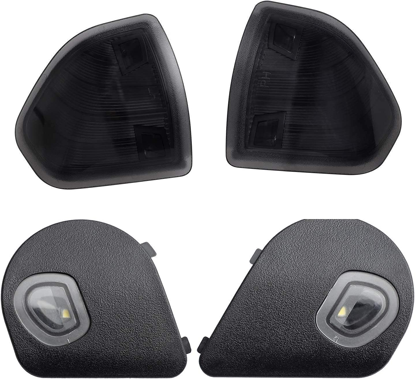 HEROO LED Turn Signal Side Smoked Light Lens Mirror Popular product Deluxe Puddle