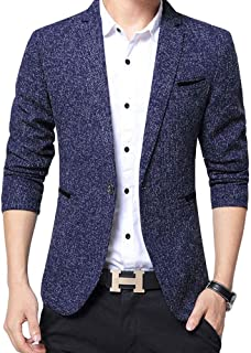 FOMANSH ジャケット メンズ ビジネス 1つボタン 西洋式 ブレザー スーツ生地