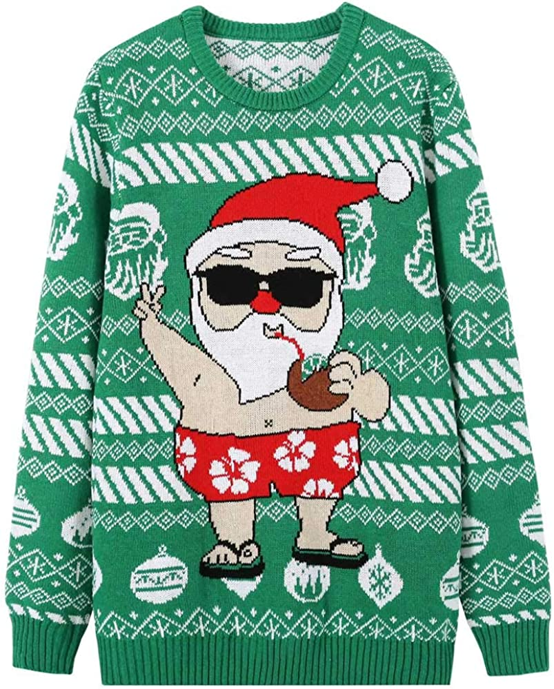 Translated MyFav Men's Ugly Christmas Sweater Party Pullove Holiday Knitted Tulsa Mall