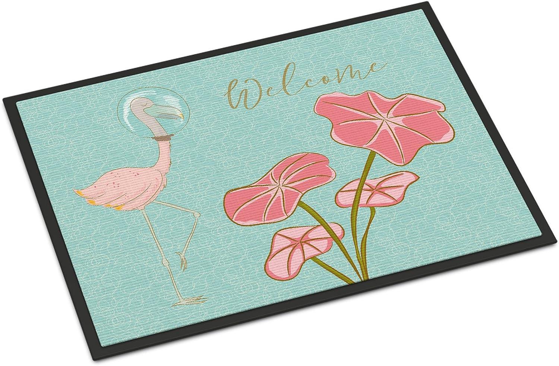 Caroline's Treasures Flamingo Welcome Doormat, 24  x 36 , Multicolor