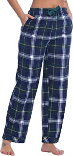 Womens 100% Cotton Flannel Plaid Pajama/Pj/Lounge/Sleep Pants/Bottoms