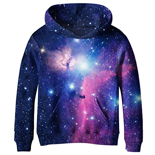 de0b6196f3b0 SAYM Big Girls Galaxy Fleece Pockets Sweatshirts Jacket Pullover Hoodies