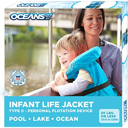 Oceans 7 US Coast Guard Approved Child Life Jacket Personal Flotation Device Type III Vest Blue PFD