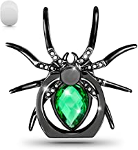 Allengel Cell Phone Ring Holder Animal 360 Rotation Diamond Finger Ring Grip Metal Kickstand for iPhone Samsung Galaxy S20+ S10 S9 S8 LG HTC Green