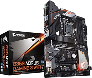 Gigabyte B360AORUS Gaming 3 - Placa Base (Intel B360, S 1151, DDR4, ATX), Color Negro