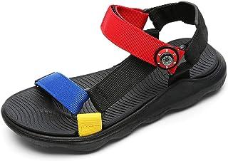 Sandalias Niños con Punta Abierta Zapatos Verano Niño para Playa Deportivas Negro Gris Verde Rojo Talla 28-39 EU