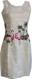Women's Island Parrots Hawaiian Short Tank Dress