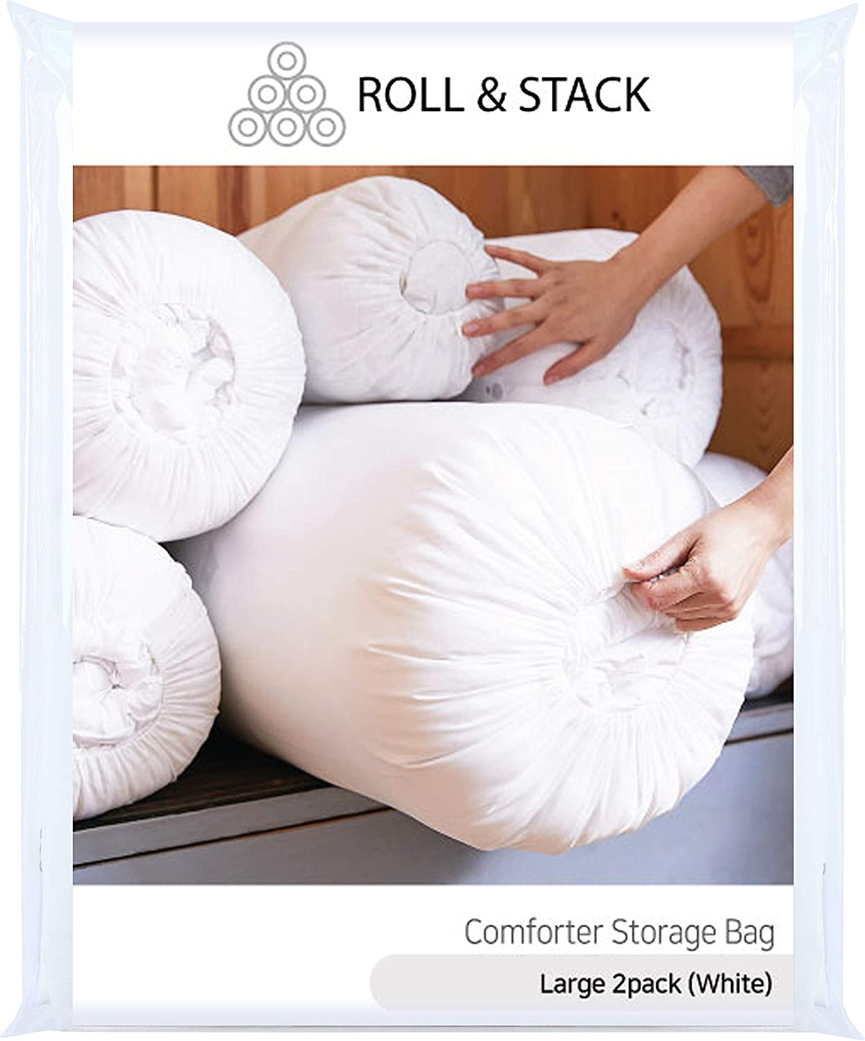 RollStack Fabric Ranking discount TOP18 Storage Bag Easy to Breathable Organize Dust