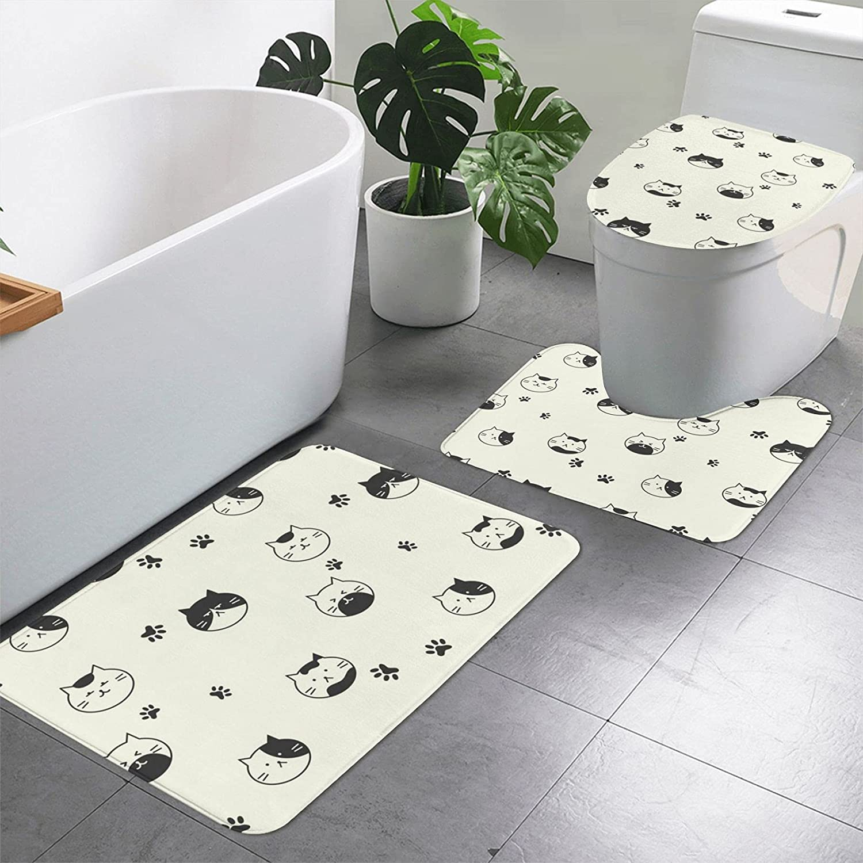 3 Pieces Max 75% OFF Bathroom Sales results No. 1 Rug Set Includes U-Shaped x 19.7 Inches 15.7
