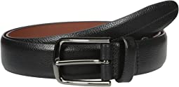 Perry Ellis Portfolio - Park Ave Pebbled Leather Dress Belt