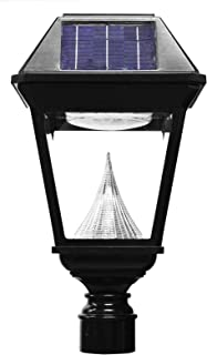 GAMA SONIC Imperial II Single Head Solar Post Lamp, LED Light, 3