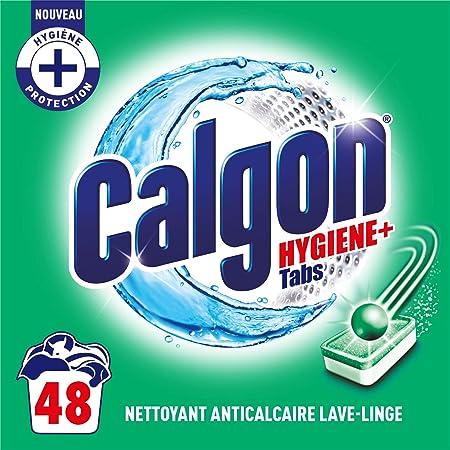 Calgon Anticalcaire Hygiene Plus pour le Lave-Linge Lot de 48 Tablettes