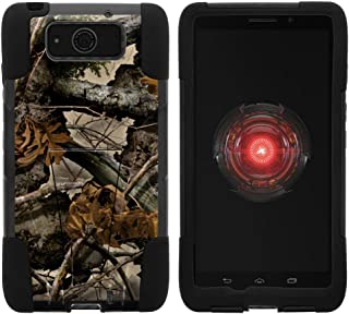 TurtleArmor | Compatible with Motorola Droid Maxx Case | Droid Ultra Case | XT1080 [Gel Max] Hybrid Dual Layer Hard Shell Kickstand Silicone Case - Tree Leaves Camouflage
