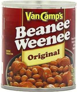 VAN CAMP'S Original Beanee Weenee, Beans & Hot Dogs, 7.75 oz. (Pack of 24)