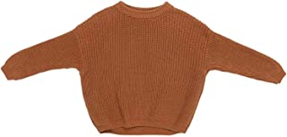 Bebé Niños Niñas Suéter Sólido Manga Larga Cuello Redondo Base Pullover Niño Niños Invierno Otoño Caliente Sudadera