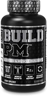 Build PM Night Time Muscle Builder & Sleep Aid - Post Workout Recovery & Sleep Support Supplement w/VitaCherry Tart Cherry...