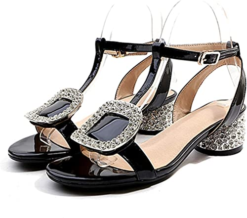 Gladiator Genuine Leather Buckle Strap High Heels Sandals mujer Summer Sandals