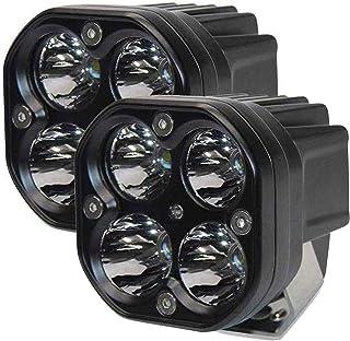 AllExtreme EX40WF2 4 LED Fog Light Super Bright Spot Flood Beam Driving Lamp for Motorcycle Cars Bikes & SUV (40W, White L...