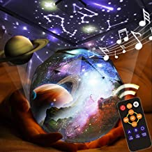 Kids Night Light, Remote Control Night Projector with LED Timer, 360°Rotating Planet Night Lighting Lamps Starry Galaxy Pr...