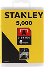 Stanley 1-TRA204-5T zszywki typu A, srebrne, 6 mm, zestaw 5000 sztuk
