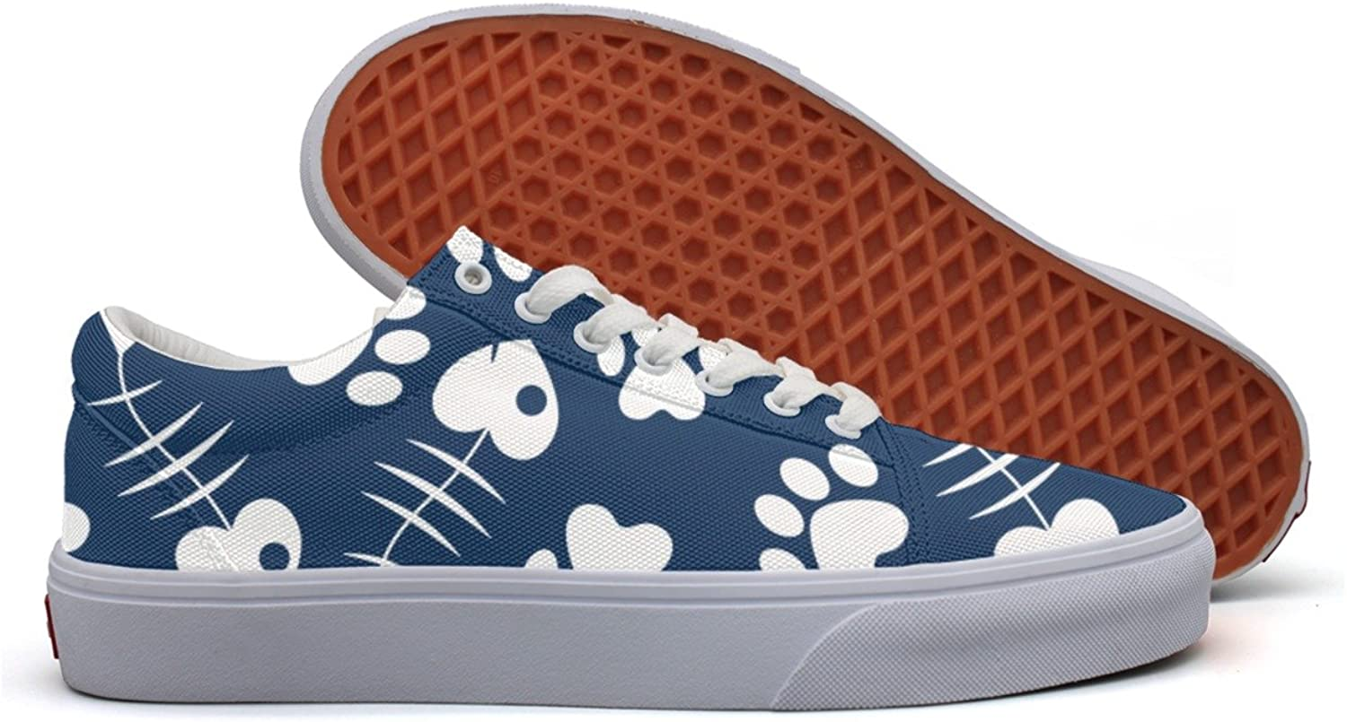 Womens Cat S Paw And Fish Fashion Plimsolls