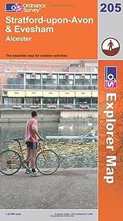 Stratford-upon-Avon and Evesham (OS Explorer Map Active)
