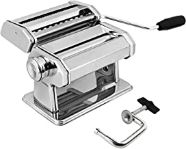 GOURMEX Stainless Steel Manual Pasta Maker Machine | With Adjustable Thickness Settings | Perfect for Professional Homemad...