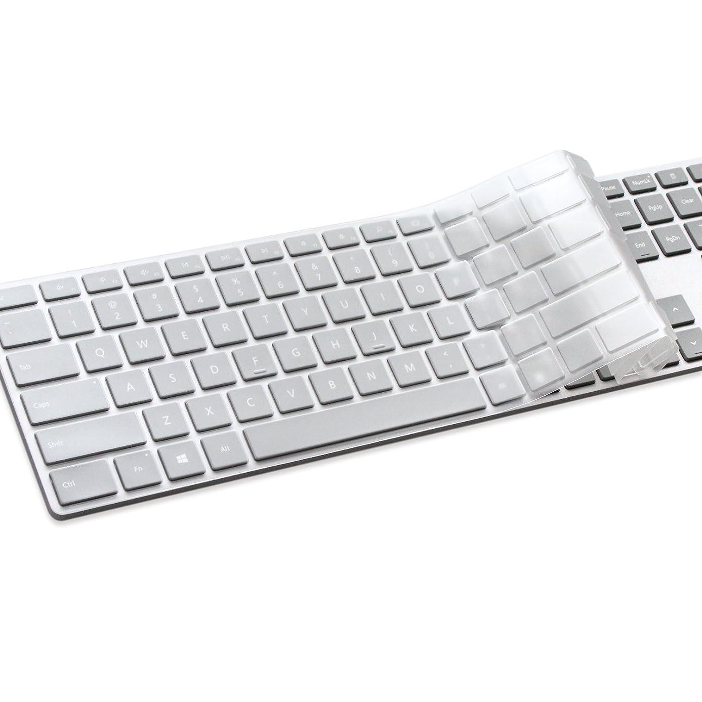 MasiBloom TPU Keyboard Cover Ultra Thin Keyboard Skin for Microsoft Surface Keyboard WS2-00025 and Microsoft Modern Keyboard with Fingerprint ID EKZ-00001 (1 PCS Keyboard Skin, TPU- Clear)