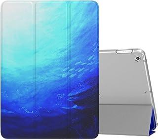 MoKo Compatible con 2018/2017 iPad 9.7 6th/5th Generation Funda Delgado y Ligero Protector con Magnética Función de Cargar/Par y Auto Sueño/Estela - Ocean