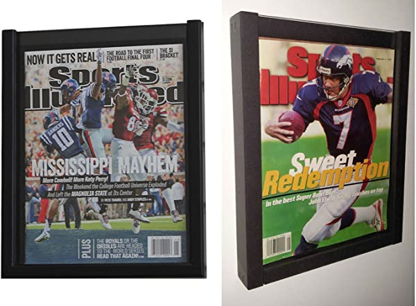 Pack Of 2 Magazine Display Cases Frames For 1990 CURRENT Issues Of Sports Illustrated Or Comic Book
