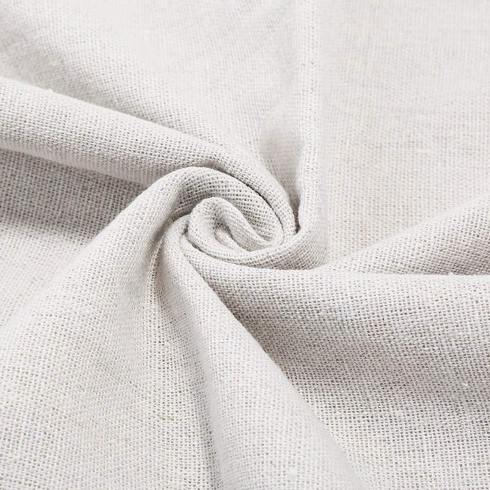 tela de punto de cruz lino natural bordado manualidades Tela de punto de cruz Aida color blanco decoraci/ón y mantel A tela de lino bordada de 20 pulgadas para hacer ropa 4 piezas