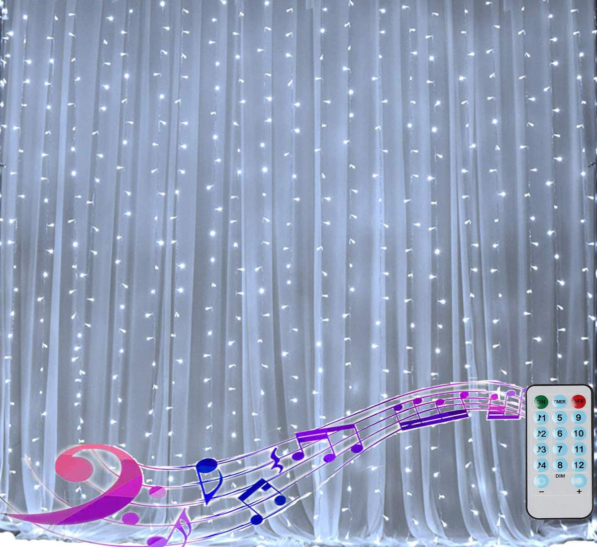 Curtain Christmas Activated Waterproof Waterfall