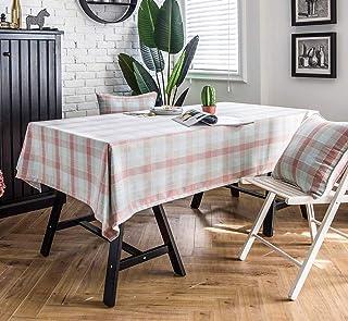 YYXLL Nappes, Nappe Rectangulaire Tissu Classique De Table en Lin De Coton À Carreaux, Décoration D'hôtel Maison, Linge De...