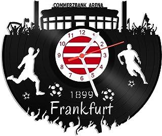 GRAVURZEILE GRAVURZEILE Schallplattenuhr Frankfurt - 100% Vereinsliebe - Upcycling Design Wanduhr aus Vinyl Made in Germany